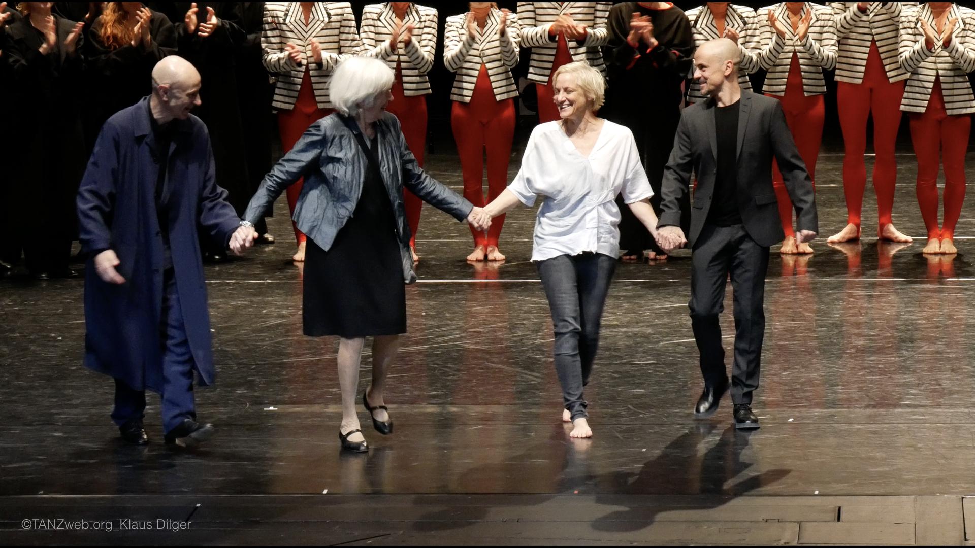 ©PRESSEBILDER Klaus Dilger_TANZWEB Verleihung Deutscher Tanzpreis 2018 in Essen Grand Finale - Cesc Gelabert-Nele Hertling-Meg Stuart-Goyo Montero