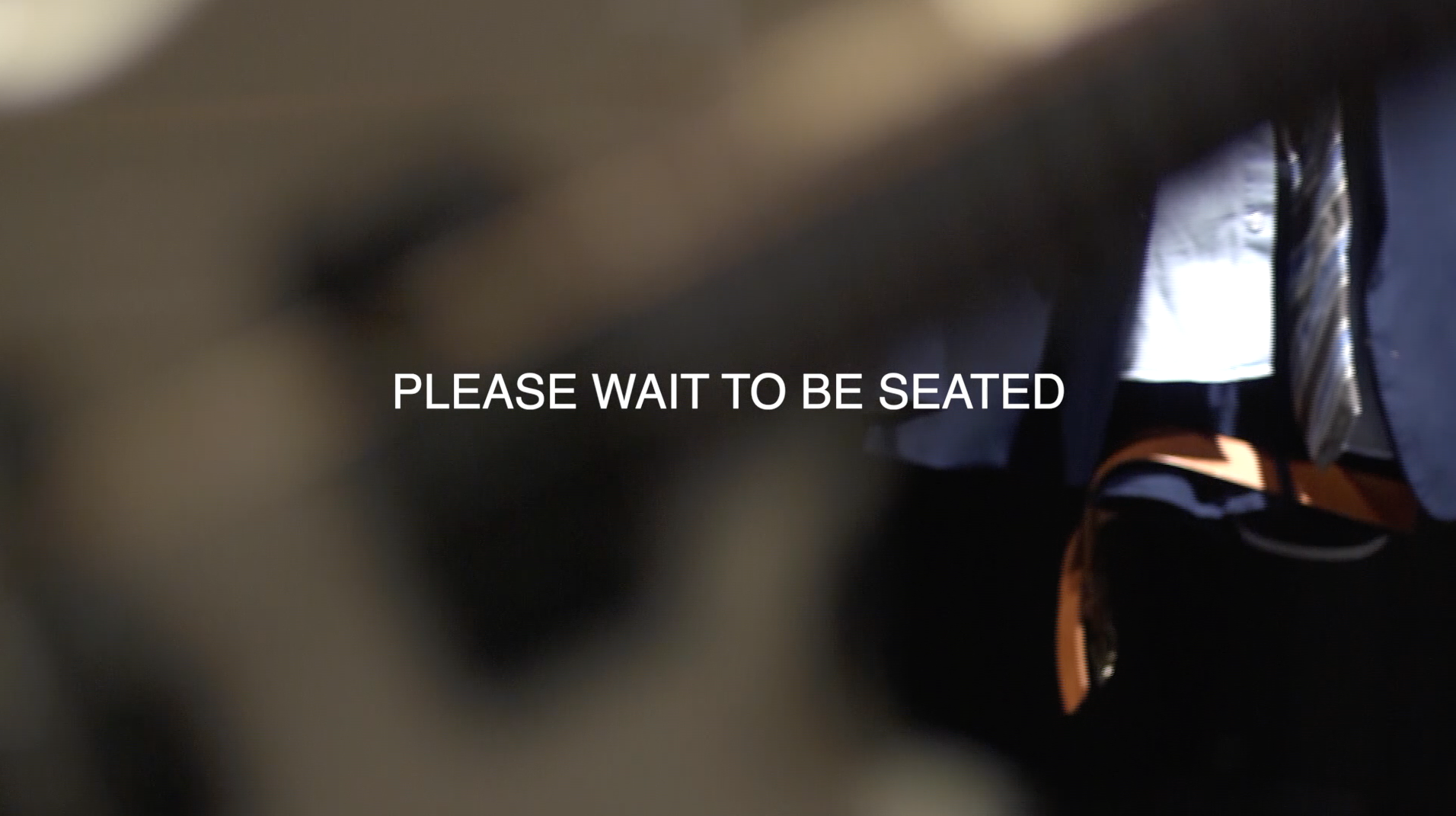 PLEASE WAIT TO BE SEATED ©Barbara Schröer