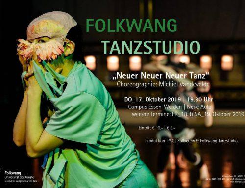 """Folkwang Tanzstudio zeigt """"Neuer Neuer Neuer Tanz"""" in der Neuen Aula"""