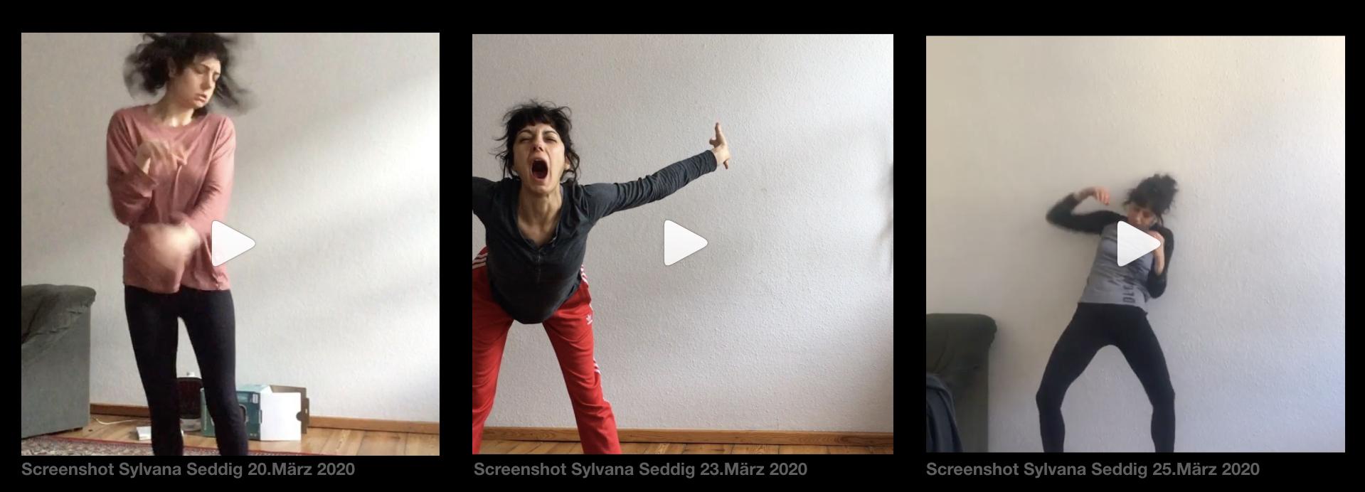 Screenshots Sylvana Seddig im Corona Taumel
